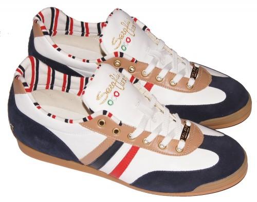 Serafini 1017 Newport Sneaker white/blue/brown