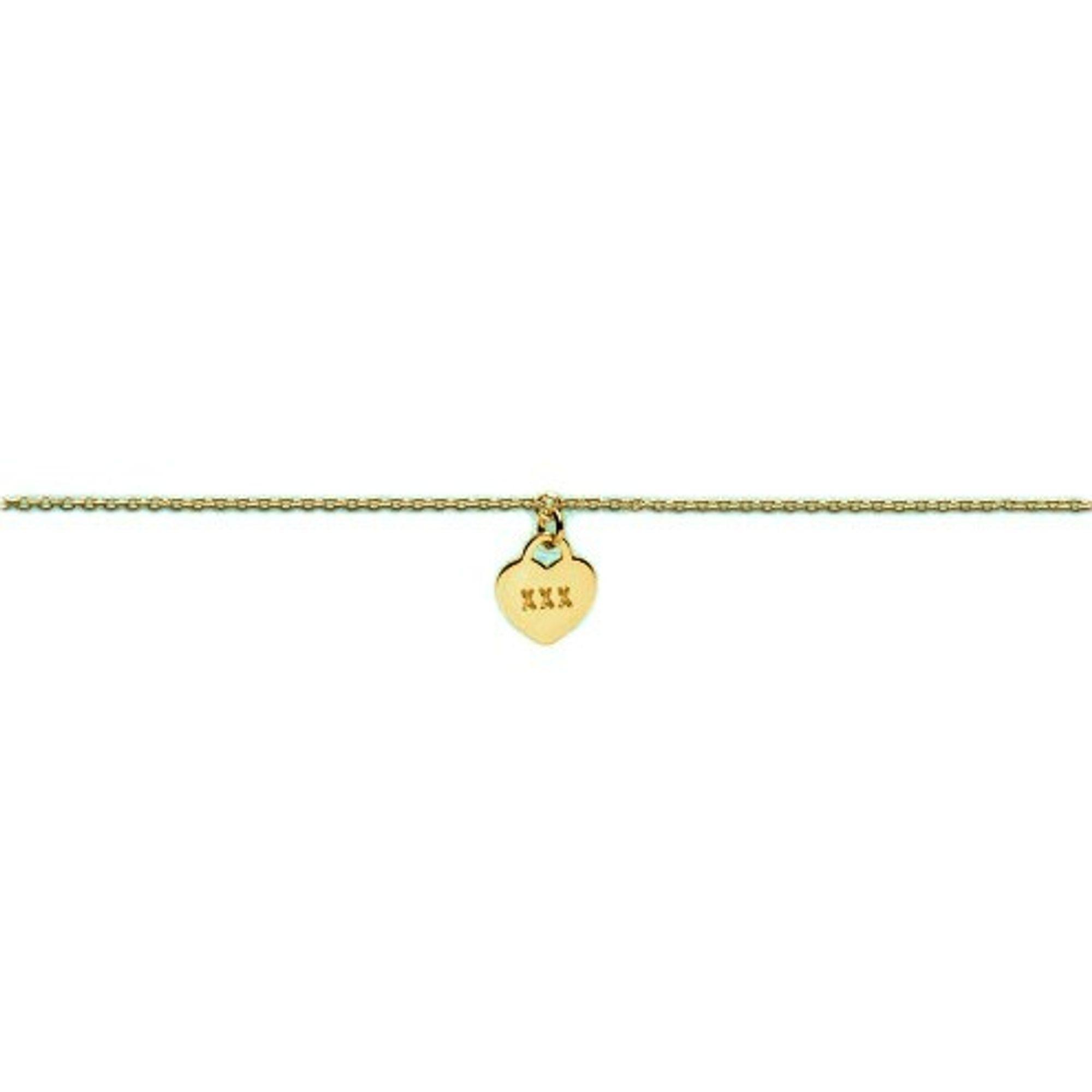 heart to get B278LOH16G Damen Armband Herz Silber gold 18 cm