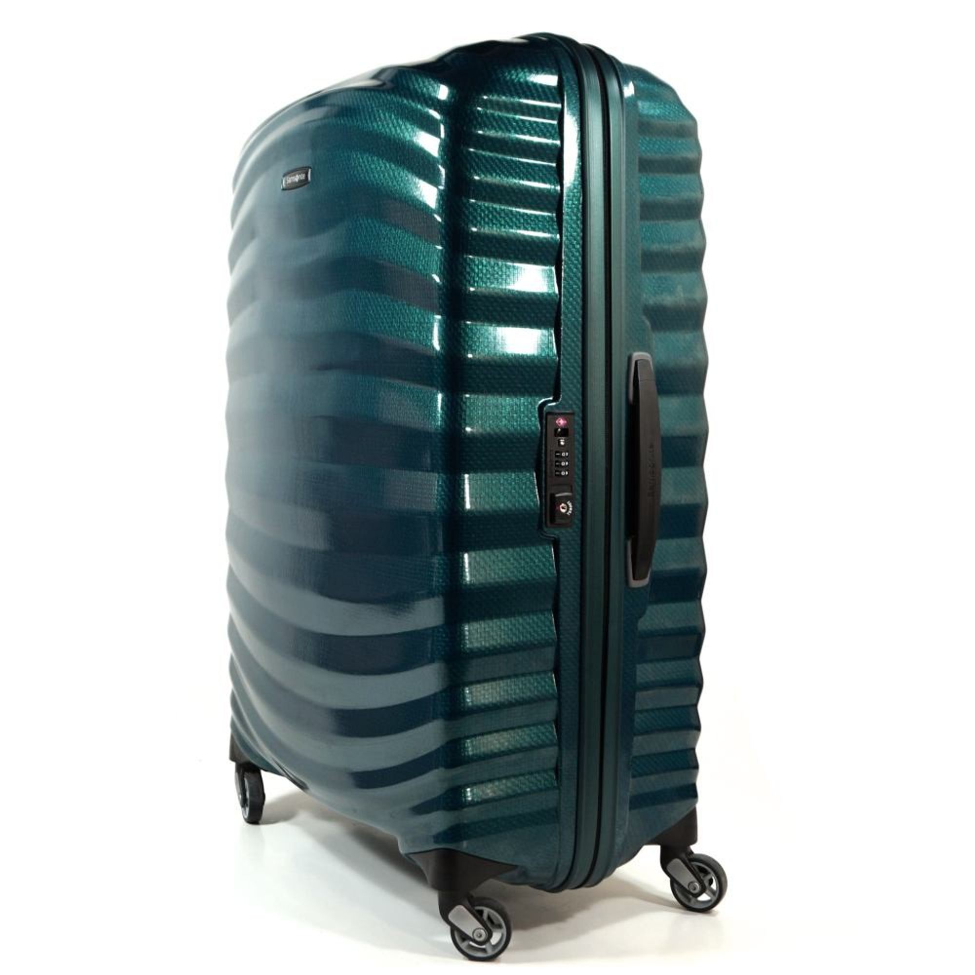 samsonite lite shock spinner 75 cm petrol blau trolley 98 5l gep ck koffer 62766 ebay. Black Bedroom Furniture Sets. Home Design Ideas