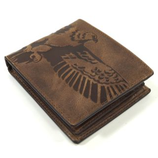 Fossil Geldbörse Eagle Gift Coin Pocket Box Braun ML3835-200 Herrenset – Bild 3