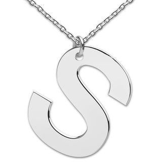 heart to get LB160INS16S Collier Big Initial letter S Silber 48 cm – Bild 1