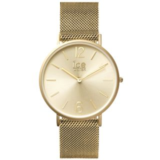 Ice-Watch 012704 CITY milanese gold matt medium Uhr Damenuhr gold – Bild 1