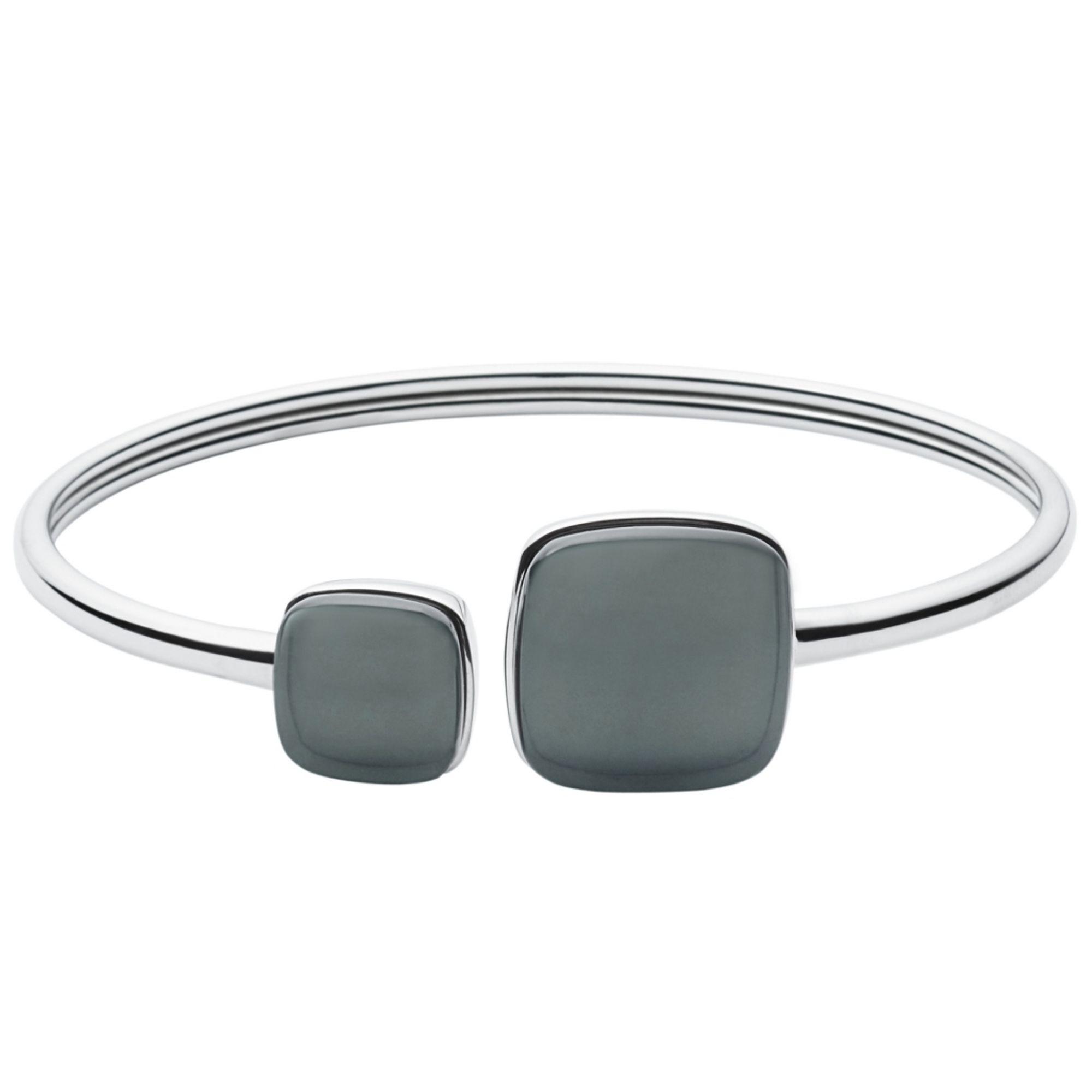 Skagen SKJ0870040 Damen Armreif SEA GLASS Edelstahl Silber Grau   City Juwelier Markenuhren und Markenschmuck