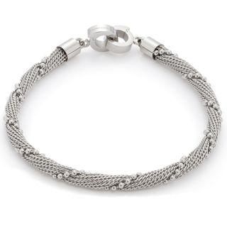 Leonardo 016223 Damen Armband Milano Darlin's Edelstahl Silber 18 cm