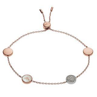 Emporio Armani EGS2308221 Damen Armband Edelstahl Rose Weiß 25 cm