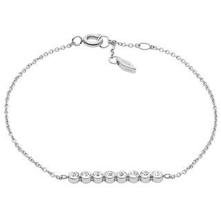 Fossil JF02585040 Damen Armband Edelstahl Silber Weiß ... 0b86a260e8