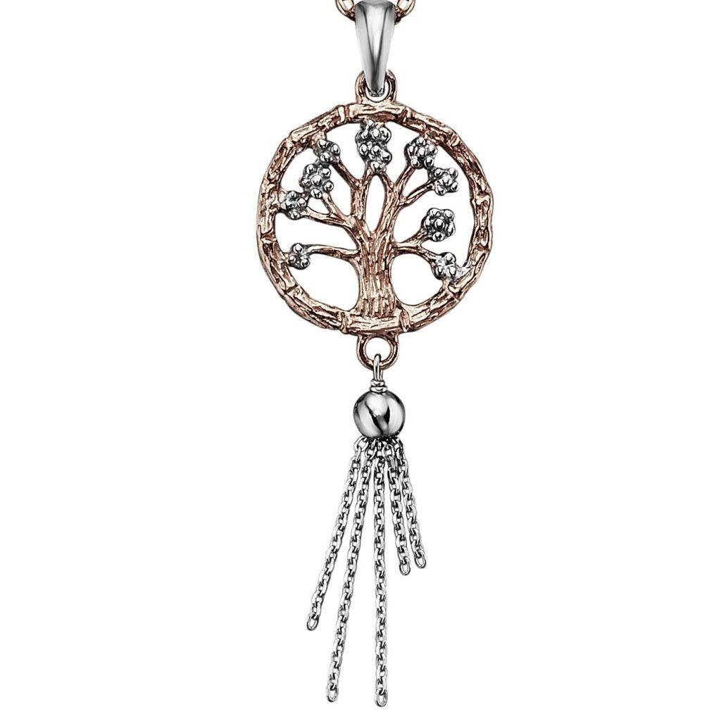 Julie Julsen® JJ7955.4 Damen Anhänger Lebensbaum Rose