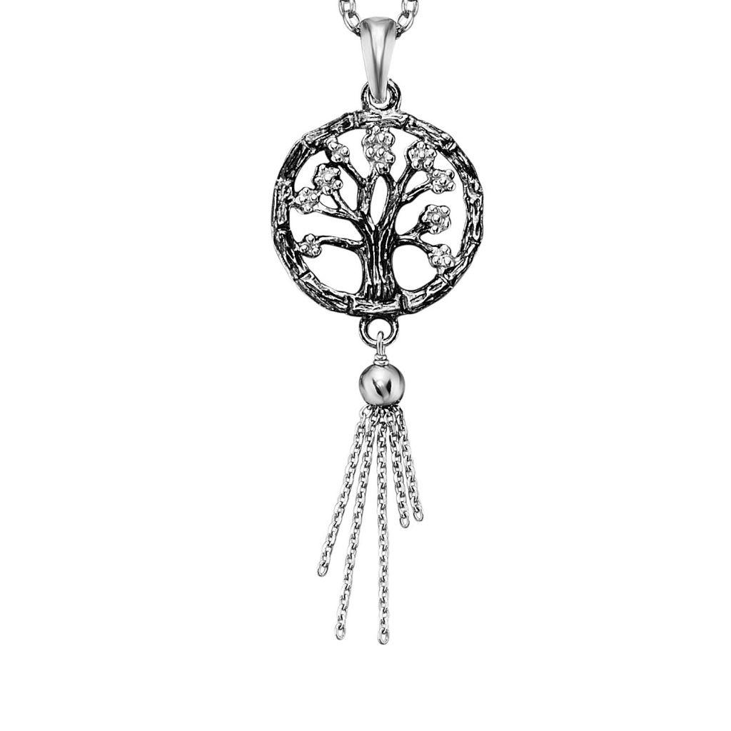 Julie Julsen® JJ7955.6 Damen Anhänger Lebensbaum Silber