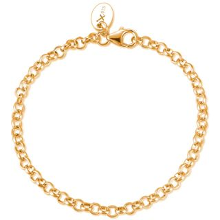 GOOIX GXC415 Damen Charms Armband Sterling-Silber 925 Gold 21 cm