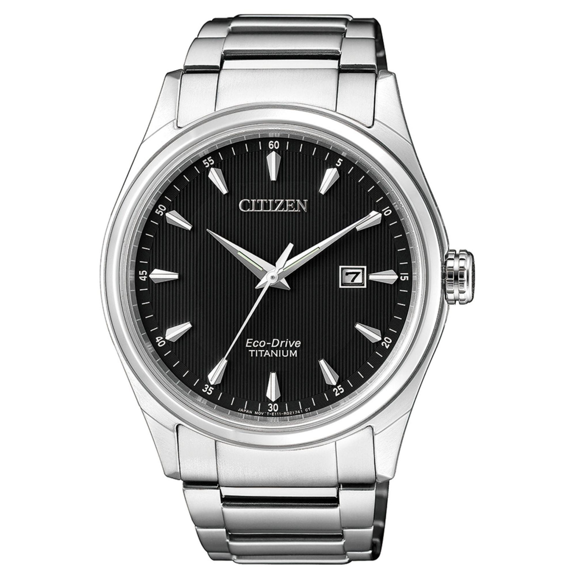 Citizen BM7360-82E Eco-Drive Uhr Herrenuhr Titan Datum Silber