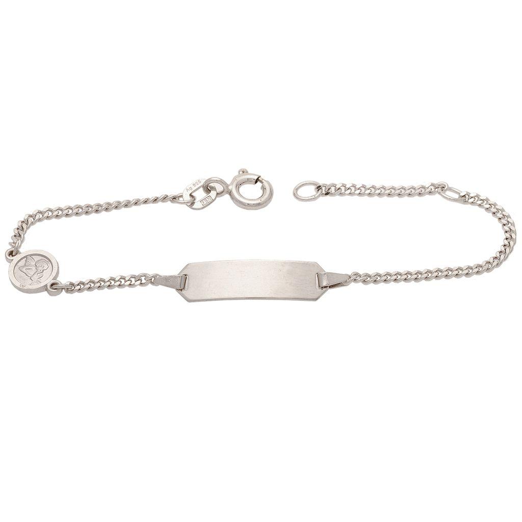 Basic Silber SAB22 Mädchen Armband Schutzengel Silber 14 cm
