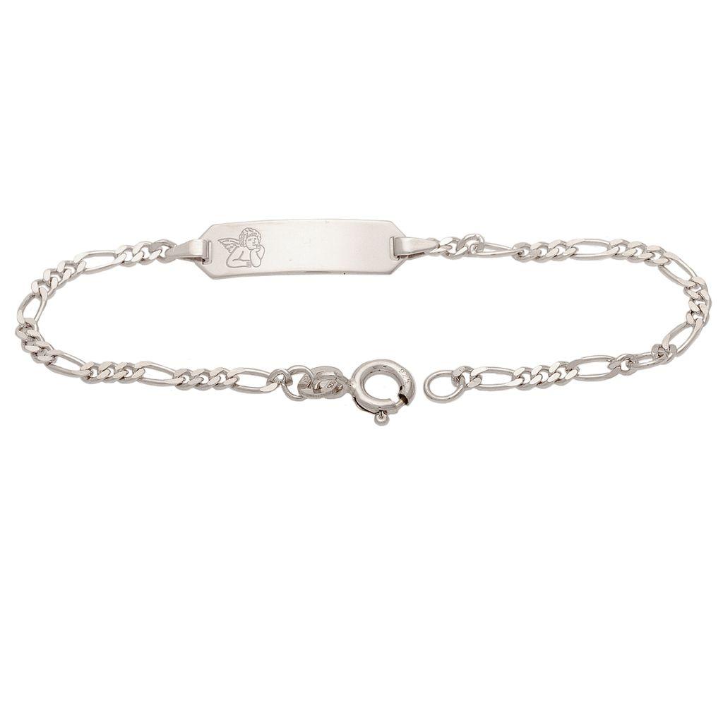 Basic Silber SAB23 Mädchen Armband Schutzengel Silber 14 cm