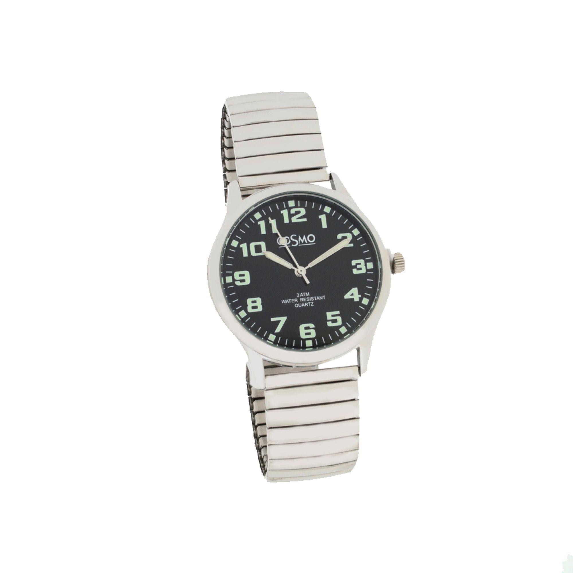Cosmo 281116-ZB-ZI-schwarz Uhr Herrenuhr Zugband silber