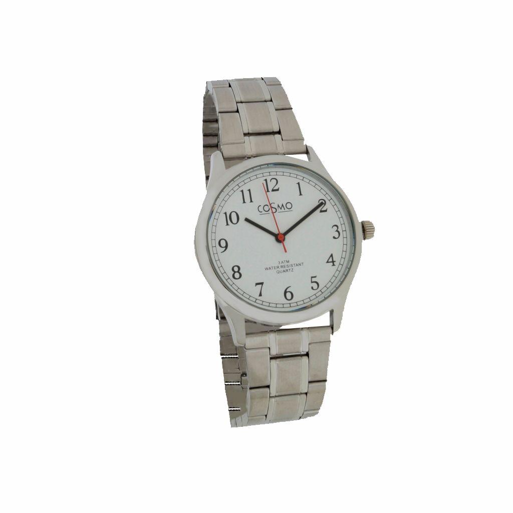 Cosmo 281116-MB-ZI-weiss Uhr Herrenuhr Edelstahl silber