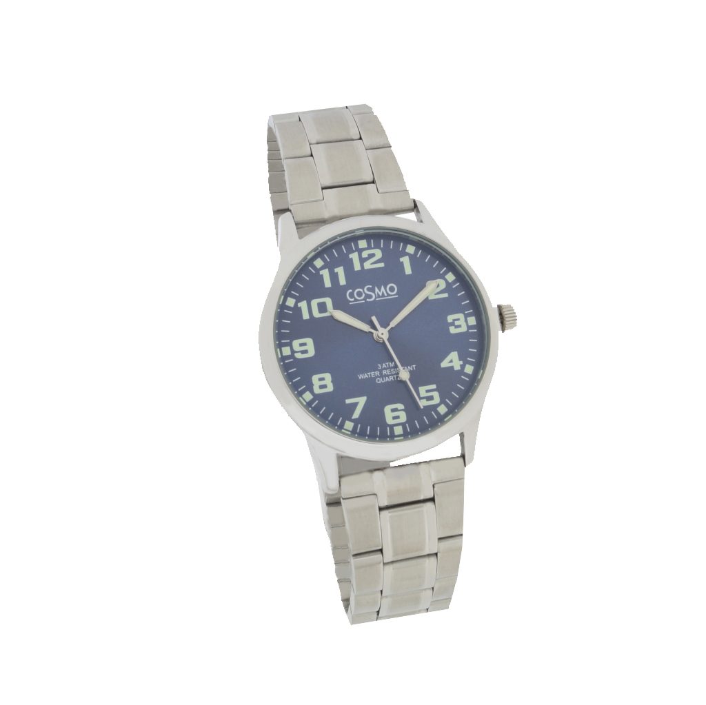 Cosmo 281116-MB-ZI-blau Uhr Herrenuhr Edelstahl silber