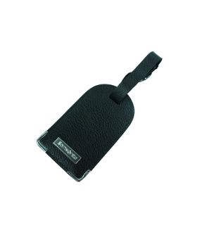 Samsonite 78051-1041 Leather Luggage Tag Schwarz Anhänger Adressschild – Bild 1