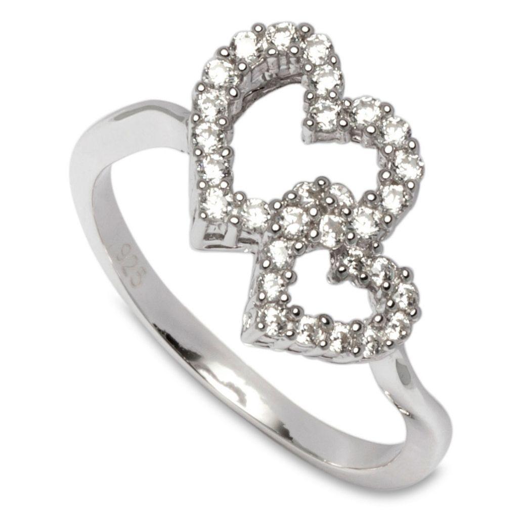 gooix 943-05377 Damen Ring Sterling-Silber 925 Silber Weiß 56 (17.8)