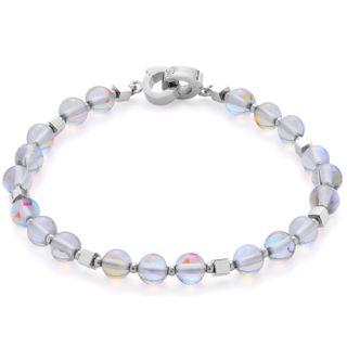Leonardo 016377 Damen Armband Bari Darlin's Edelstahl Silber Grau