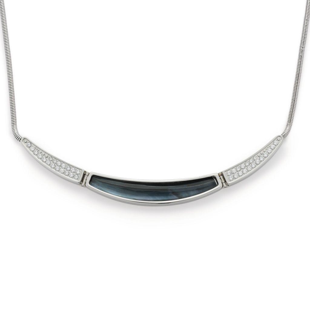 Leonardo 016349 Damen Kette Eleganza Edelstahl Silber Weiß 47 cm