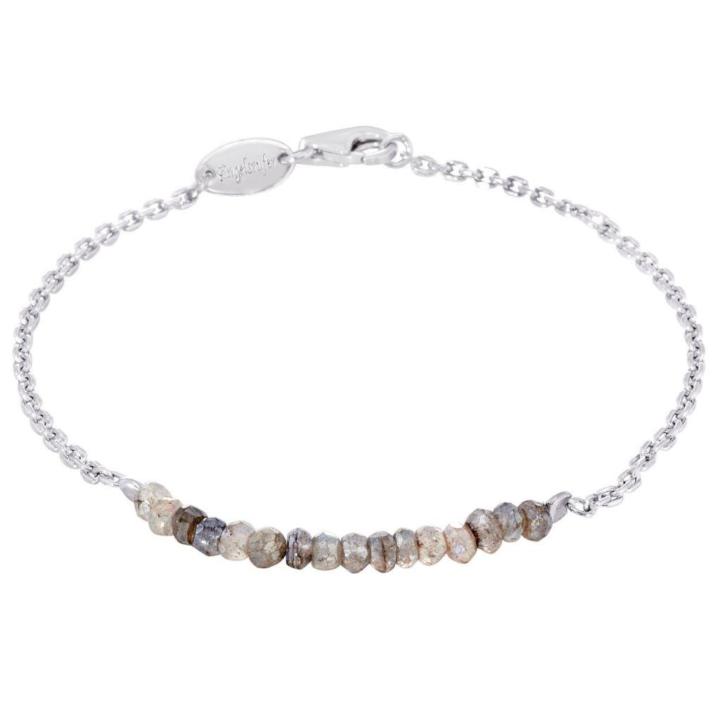 Engelsrufer ERB-18-PLATA-LA Damen Armband Silber Grau 18 cm