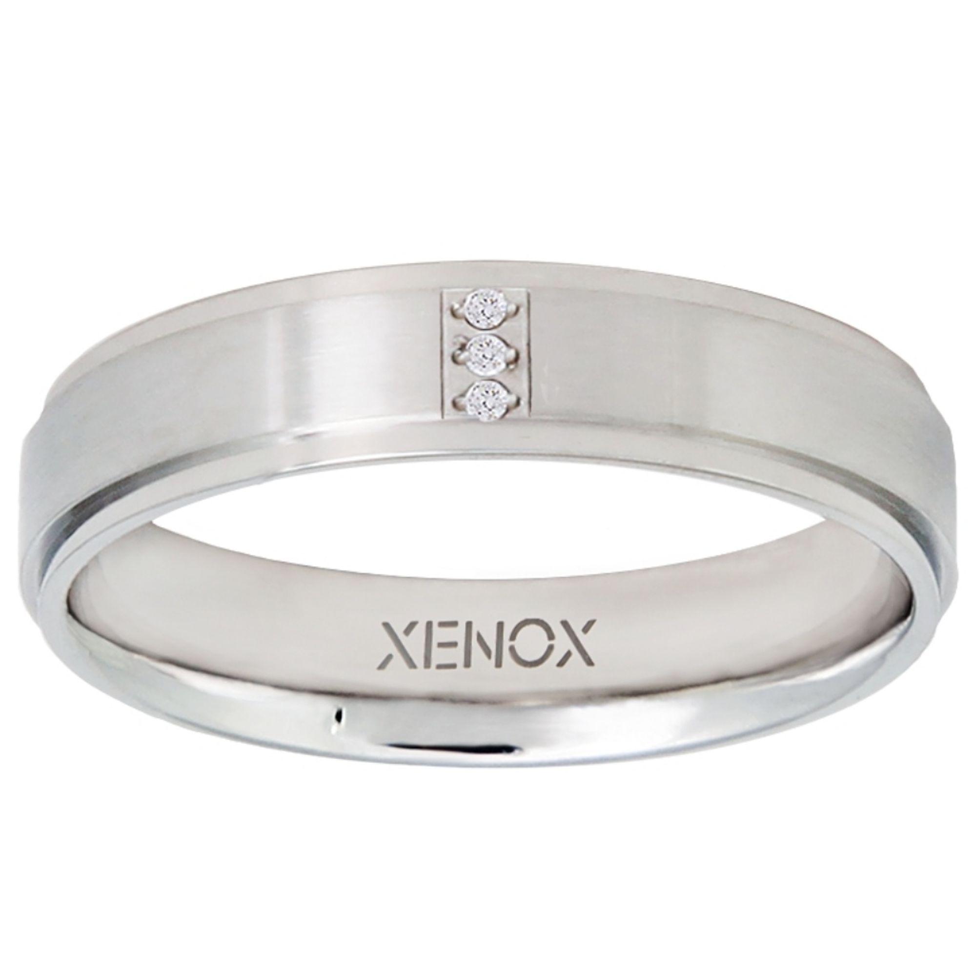 XENOX X2265-56 Damen Ring XENOX & friends Silber Weiß 56 (17.8)