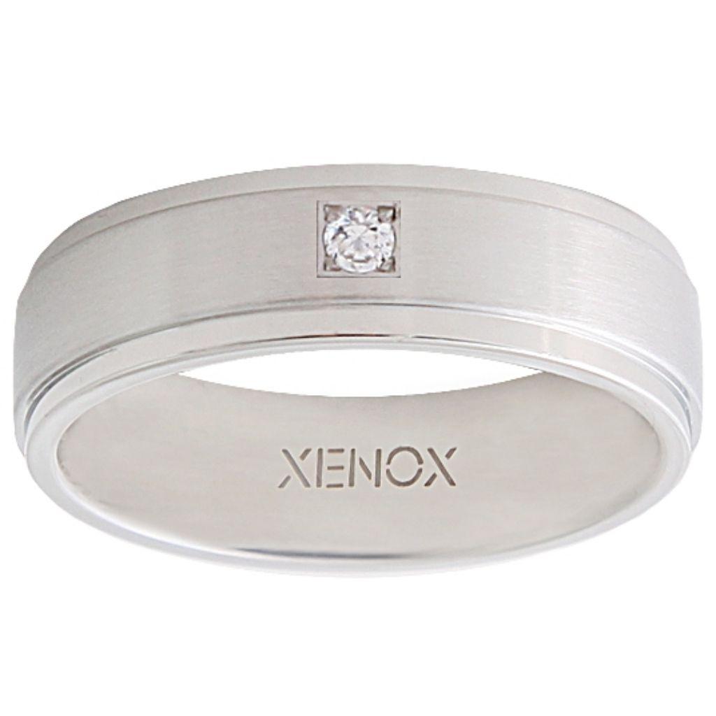 XENOX X2226-58 Damen Ring XENOX & friends Silber Weiß 58 (18.5)