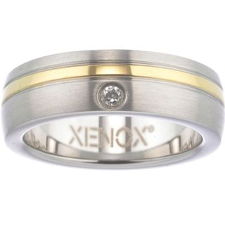 XENOX X1681-54 Damen Ring XENOX & friends Bicolor Gold Weiß 54 (17.2) – Bild 1