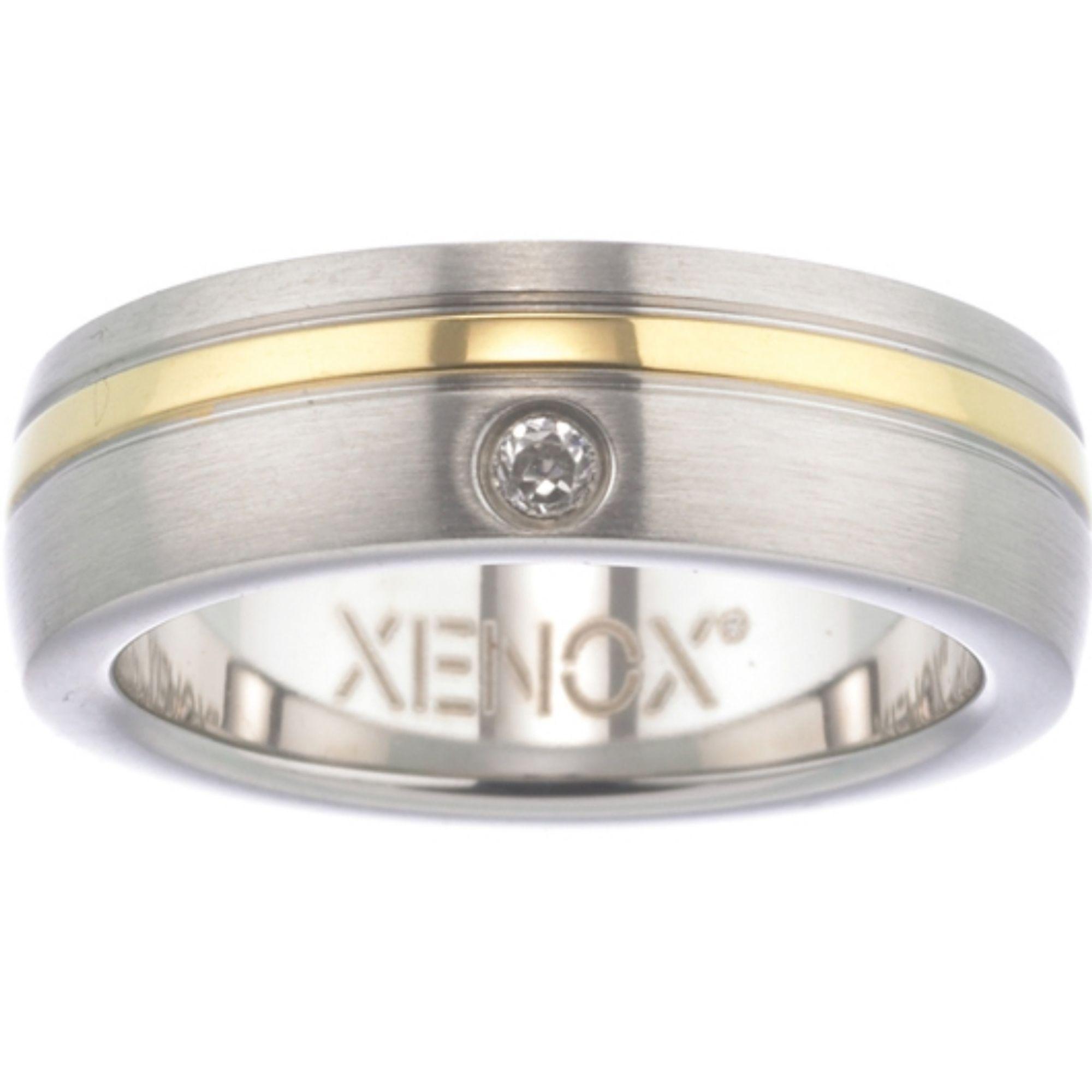 XENOX X1681-56 Damen Ring XENOX & friends Bicolor Gold Weiß 56 (17.8)