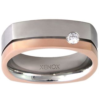 XENOX X2243-52 Damen Ring XENOX & friends Bicolor Rose Weiß 52 (16.6) – Bild 1