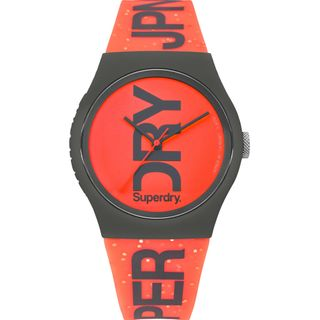 Superdry SYL189CE Urban  Uhr Damenuhr Silikon Orange – Bild 1