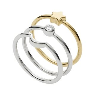 Fossil JFS00433998503 Ring Wish upon a star Bicolor Gold 50 (15.9) – Bild 4