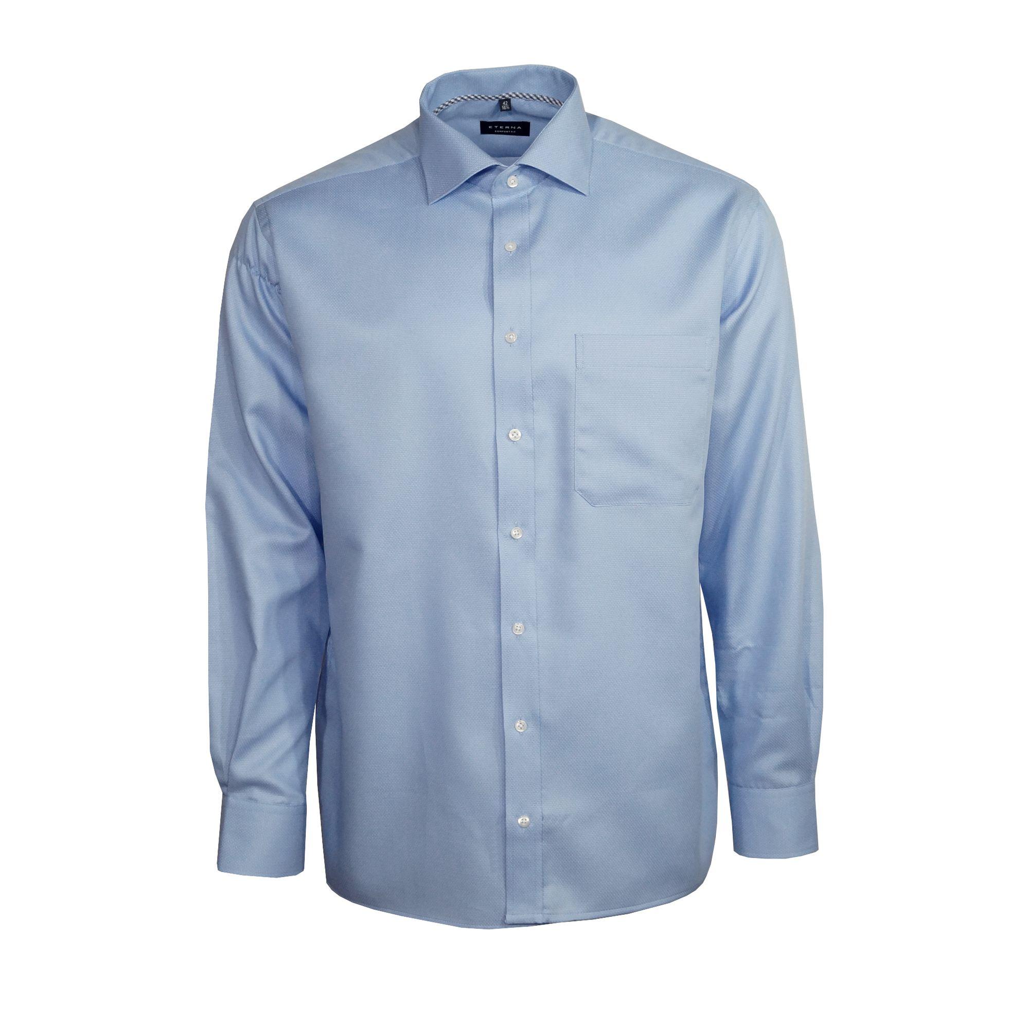 Eterna – Comfort Fit Business Hemd aus Baumwolle – Bordeaux Rot