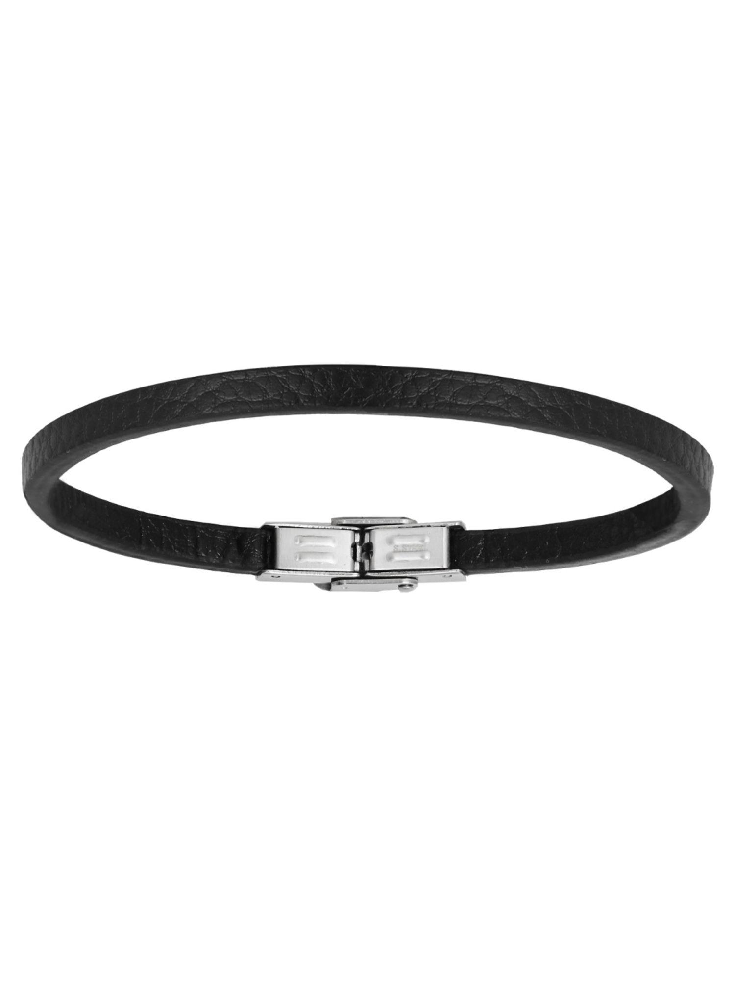 XENOX X4506 Herren Armband XENOX men Edelstahl Silber Schwarz 22 cm