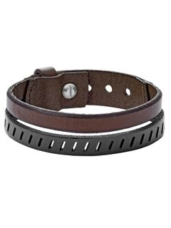 Fossil JA6927040 Herren Armband VINTAGE CASUAL Messing Silber 21,5 cm