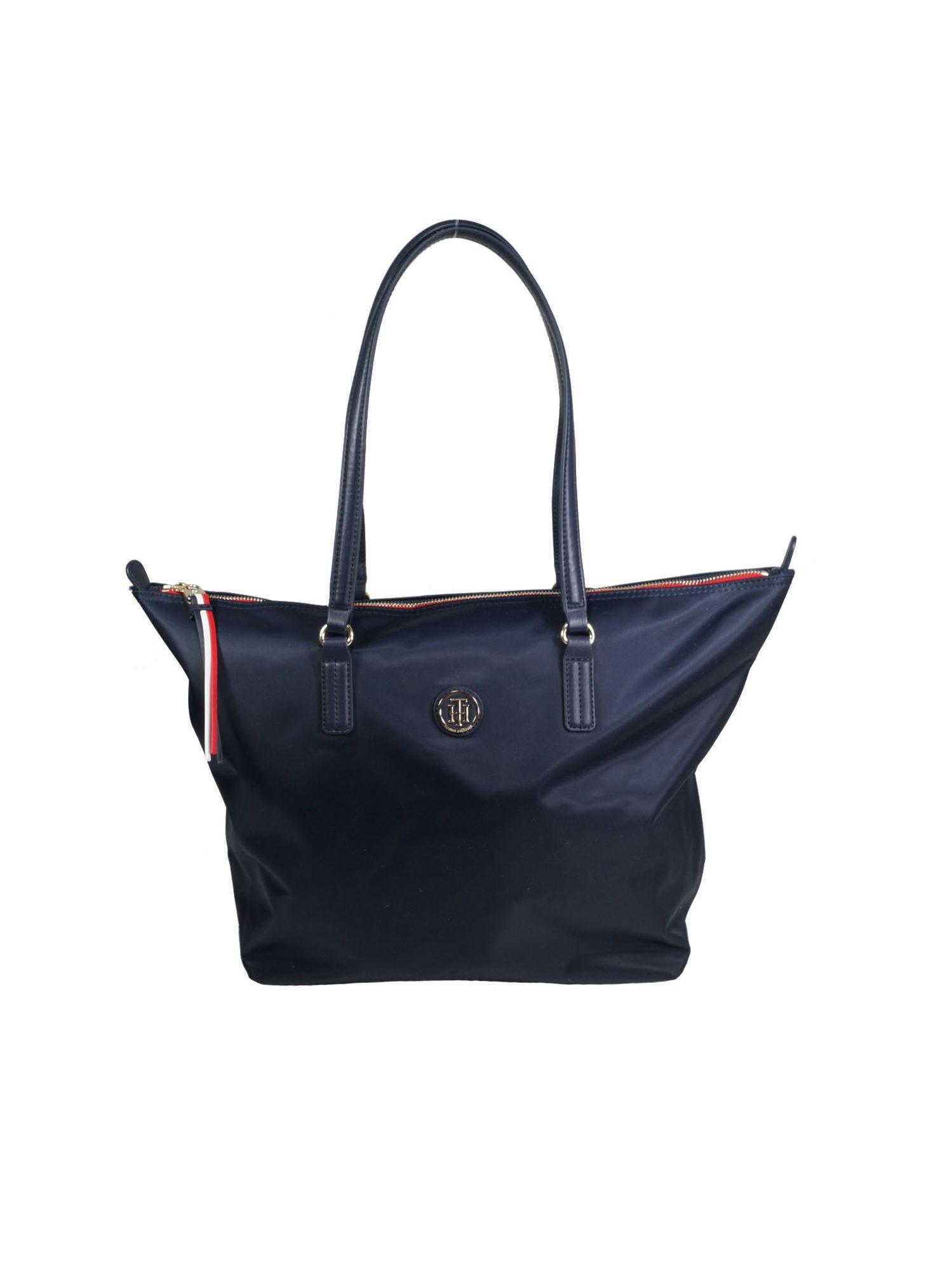 beste Schuhe Top Marken Qualität und Quantität zugesichert Tommy Hilfiger Damen Handtasche Tasche Shopper POPPY Tote Blau   starlabels  outdoor lifestyle leder
