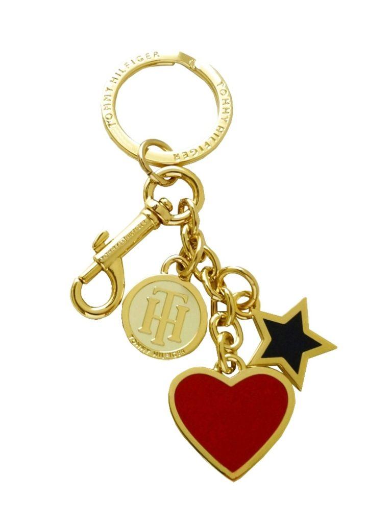 Tommy Hilfiger Schlüsselanhänger Heart and Star Key Fob Gold Tommy Hilfiger Schlüsselanhänger Heart and Star Key Fob Gold