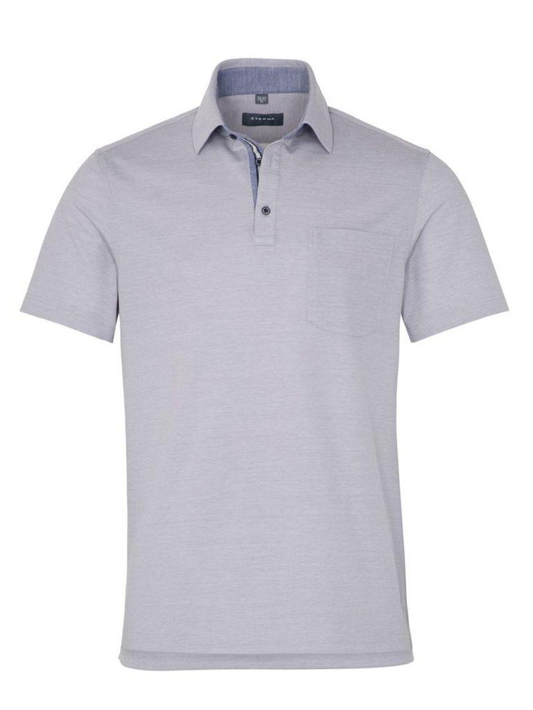 Eterna Herren Polo Shirt Kurzarm Comfort Fit Piqué Grau XXXXL/52 Eterna Herren Polo Shirt Kurzarm Comfort Fit Piqué Grau XXXXL/52