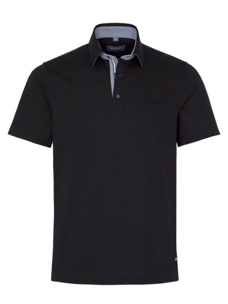 Eterna Herren Polo Shirt Kurzarm Comfort Fit Piqué Schwarz XL/44 Eterna Herren Polo Shirt Kurzarm Comfort Fit Piqué Schwarz XL/44