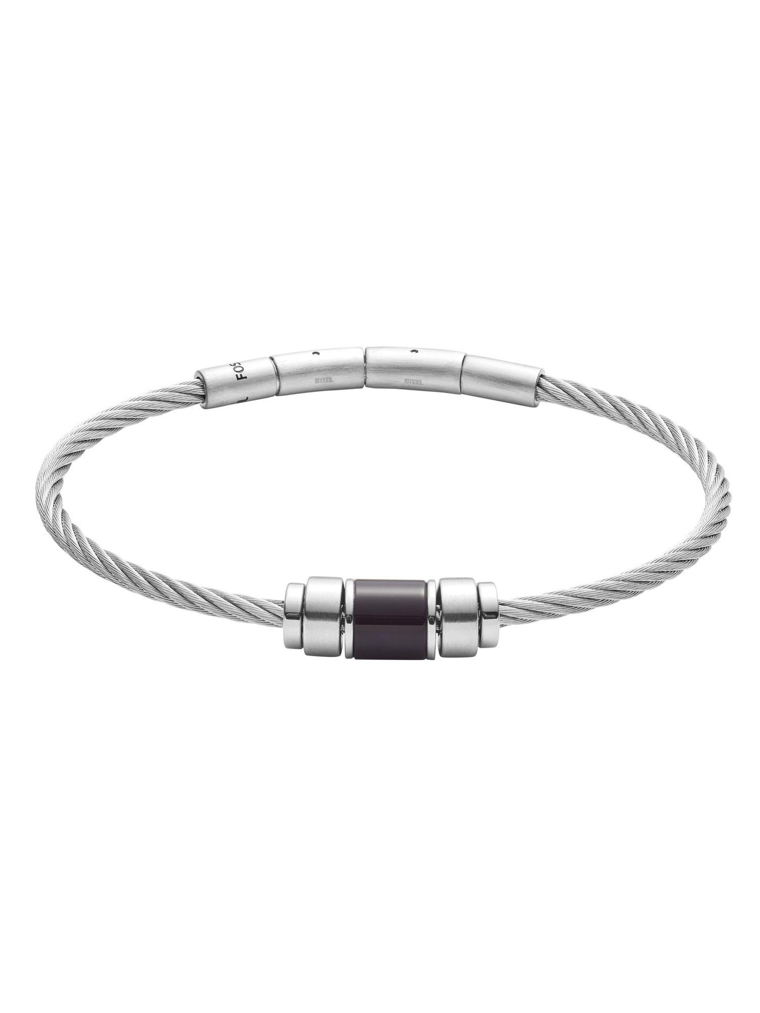 Großhändler Promo-Codes suche nach neuestem Fossil JF02925040 Herren Armband Edelstahl Silber Schwarz 19 cm | City  Juwelier Markenuhren und Markenschmuck