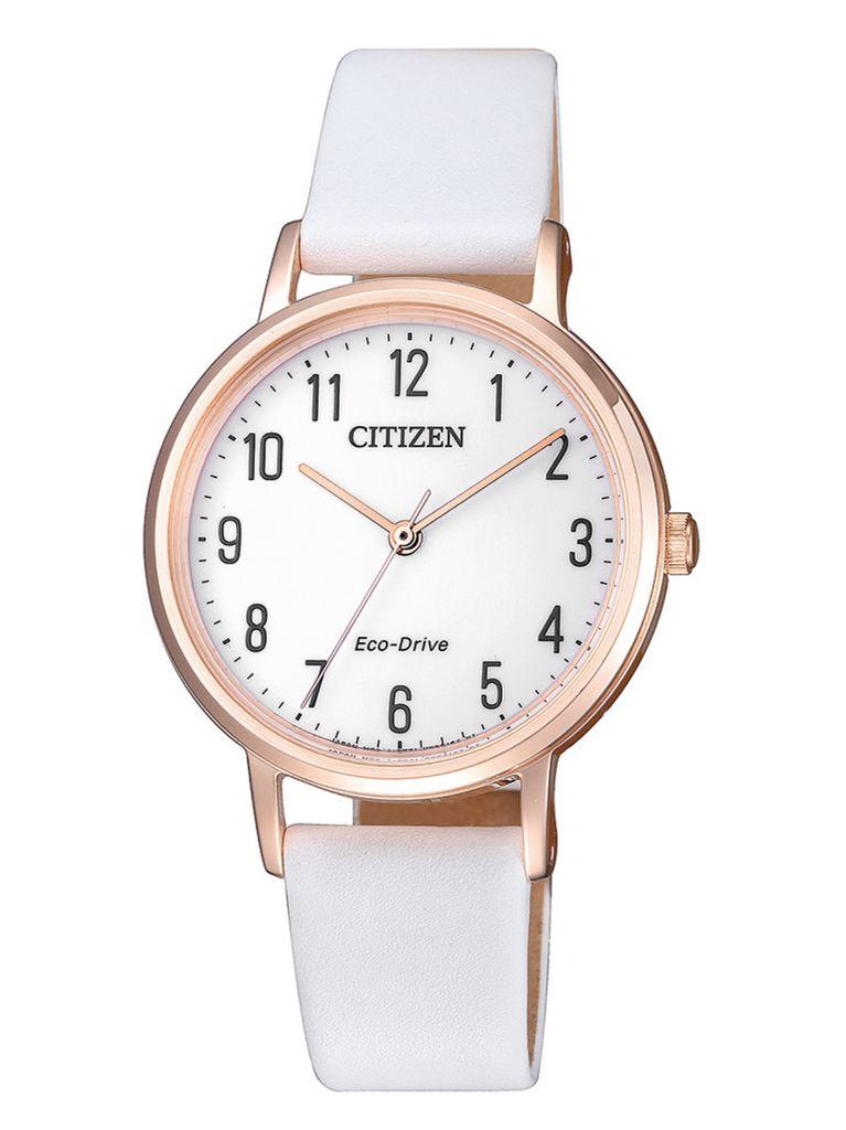 Citizen EM0579-14A Uhr Damenuhr Lederarmband Weiß Citizen EM0579-14A Uhr Damenuhr Lederarmband Weiß