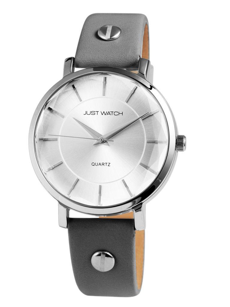 Just Watch  JW10007-004 Uhr Damenuhr Lederarmband Grau Just Watch  JW10007-004 Uhr Damenuhr Lederarmband Grau