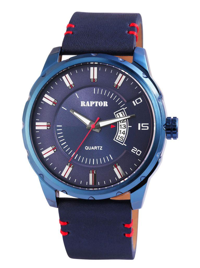 Raptor RA20023-05 Uhr Herrenuhr Lederarmband Datum Blau Raptor RA20023-05 Uhr Herrenuhr Lederarmband Datum Blau