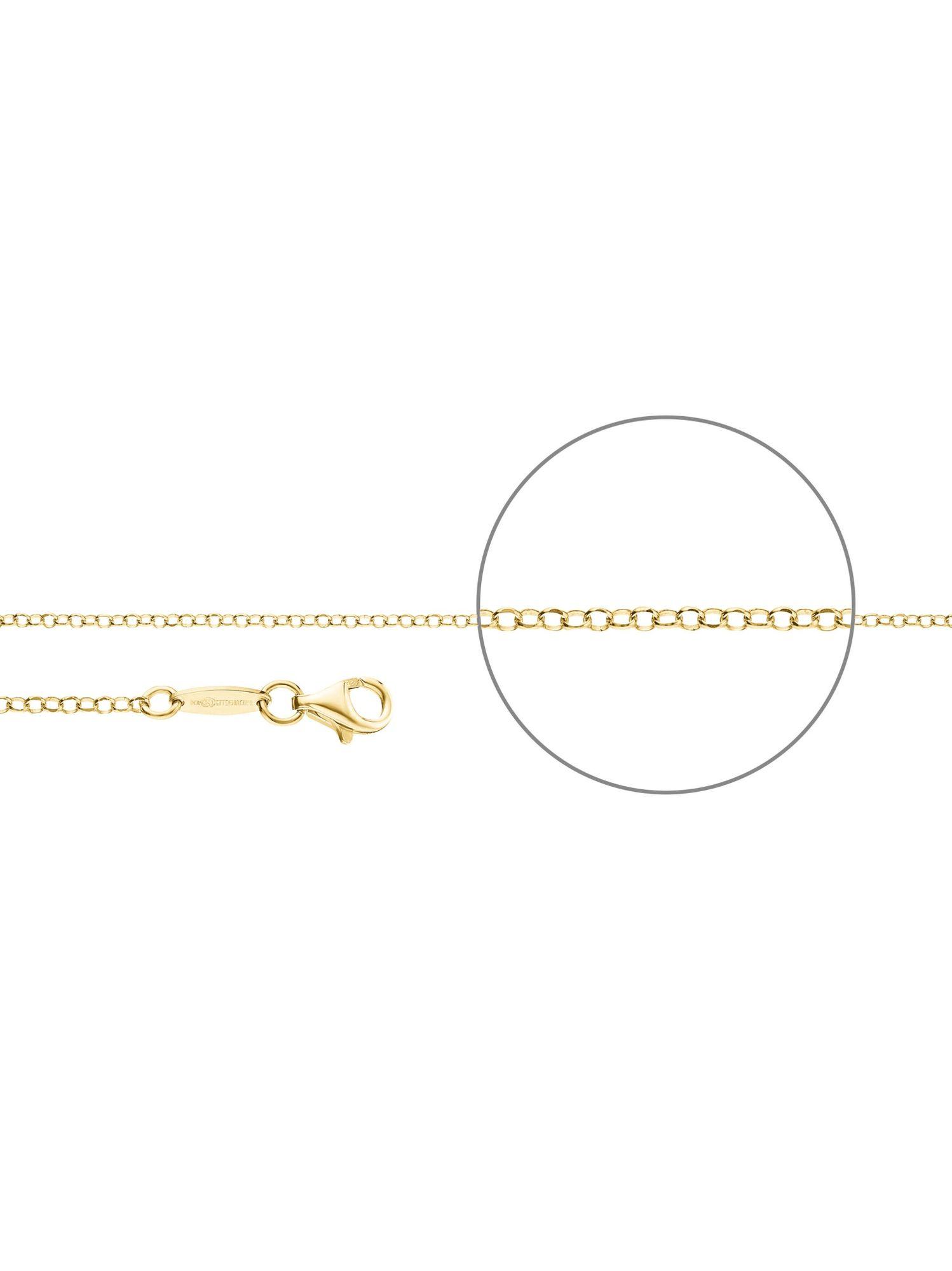 Der Kettenmacher E1-50G Erbs Kette vergoldet 50 cm