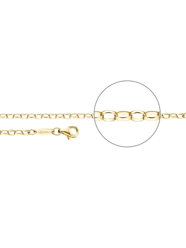 Der Kettenmacher A1-42G Anker Kette vergoldet 42 cm Der Kettenmacher A1-42G Anker Kette vergoldet 42 cm