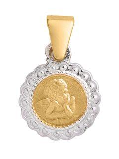 Basic Gold 10357 Kinder Anhänger Schutzengel 14 Karat (585) Bicolor Basic Gold 10357 Kinder Anhänger Schutzengel 14 Karat (585) Bicolor