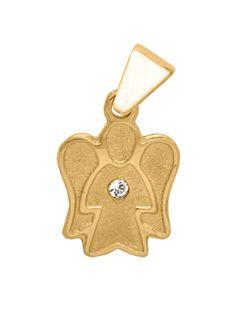 Basic Gold 10460 Kinder Anhänger Engel 14 Karat (585) Gold Weiß Basic Gold 10460 Kinder Anhänger Engel 14 Karat (585) Gold Weiß