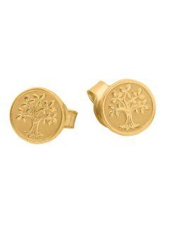 Basic Gold 24633 Damen Ohrstecker Lebensbaum 14 Karat (585) Gelbgold Basic Gold 24633 Damen Ohrstecker Lebensbaum 14 Karat (585) Gelbgold