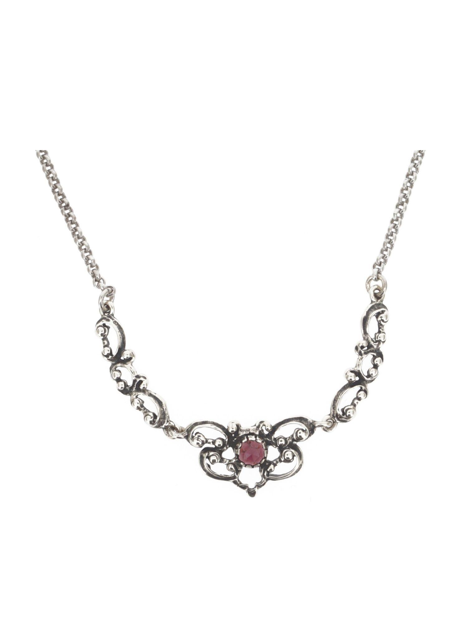 Gerry Eder 1045 Damen Collier Sterling-Silber 925 Silber Rot 48 cm
