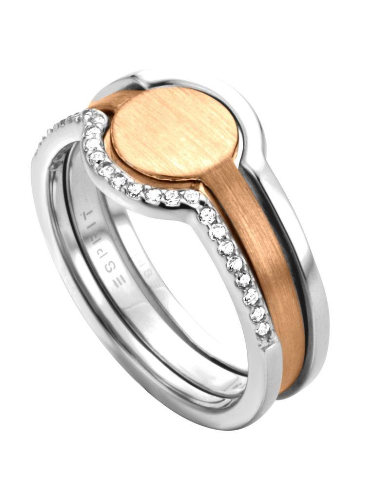 Esprit ESRG00301216 Damen Ring Fuse Ring Bicolor Rose Weiß 50 (15.9) Esprit ESRG00301216 Damen Ring Fuse Ring Bicolor Rose Weiß 50 (15.9)