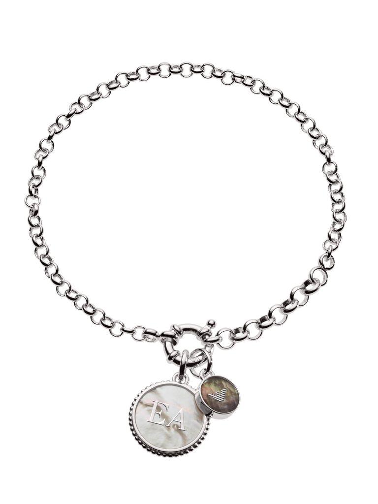 Emporio Armani EG3357040 Damen Armband 925 Silber Weiß 20 cm Emporio Armani EG3357040 Damen Armband 925 Silber Weiß 20 cm